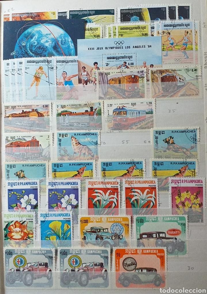 Sellos: Colección de sellos de Camboya bastante completa en álbum de 16 páginas - Foto 5 - 200853081
