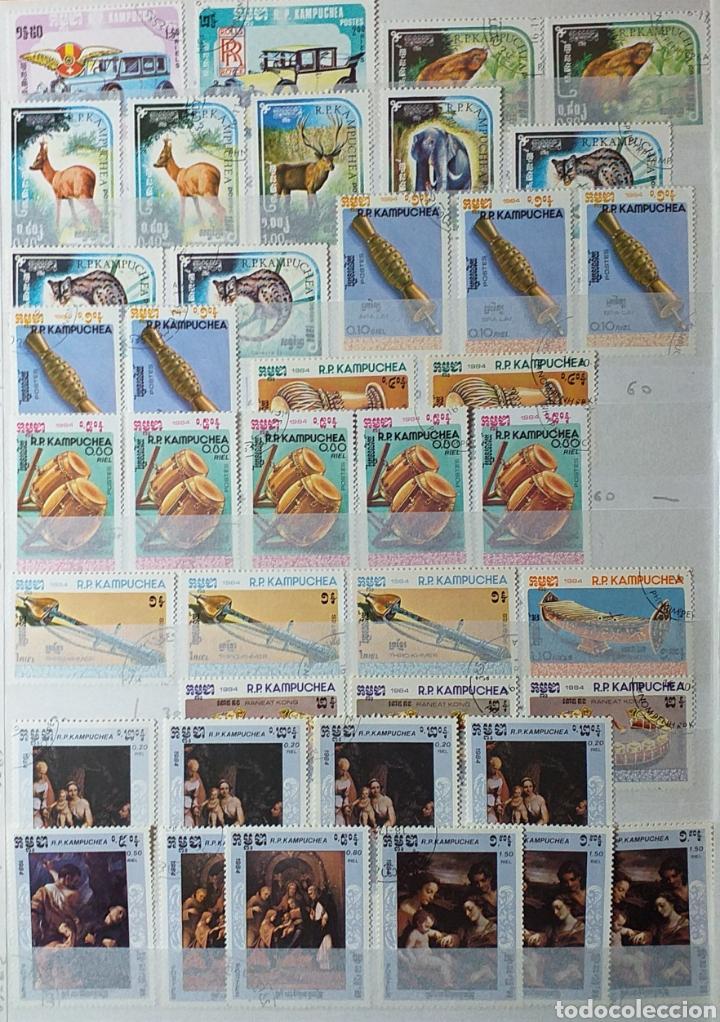Sellos: Colección de sellos de Camboya bastante completa en álbum de 16 páginas - Foto 6 - 200853081