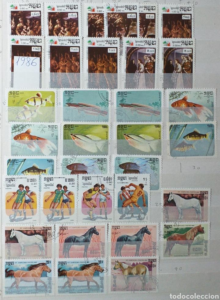 Sellos: Colección de sellos de Camboya bastante completa en álbum de 16 páginas - Foto 8 - 200853081