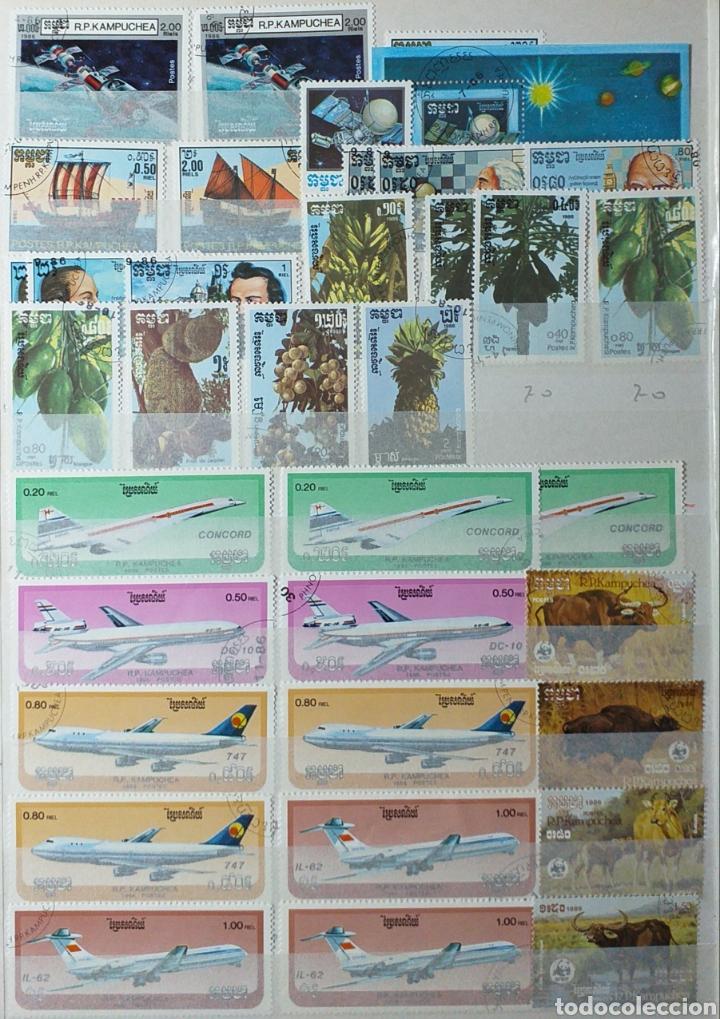Sellos: Colección de sellos de Camboya bastante completa en álbum de 16 páginas - Foto 10 - 200853081