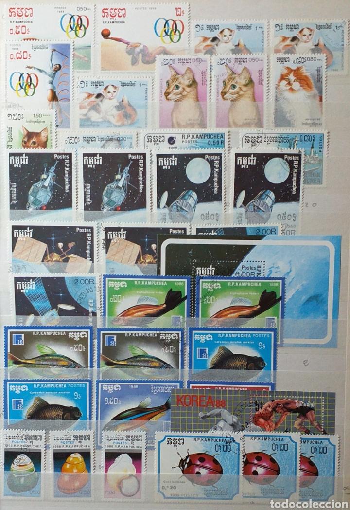 Sellos: Colección de sellos de Camboya bastante completa en álbum de 16 páginas - Foto 13 - 200853081