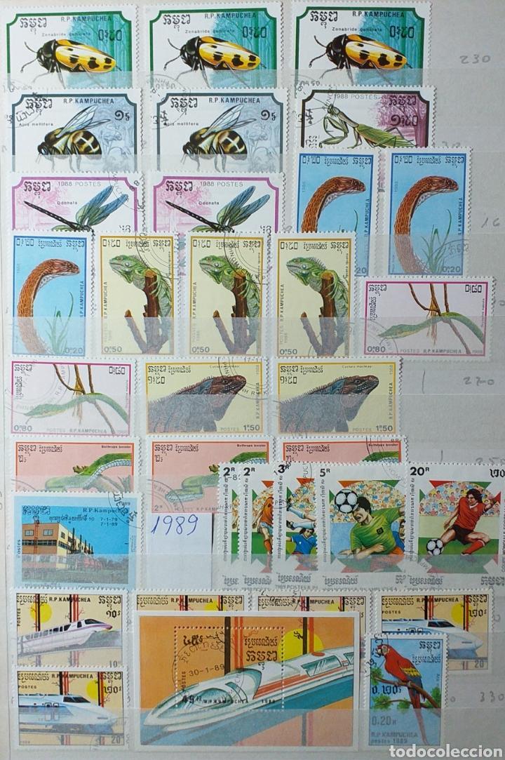 Sellos: Colección de sellos de Camboya bastante completa en álbum de 16 páginas - Foto 14 - 200853081