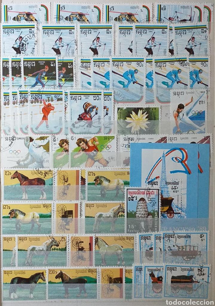 Sellos: Colección de sellos de Camboya bastante completa en álbum de 16 páginas - Foto 15 - 200853081