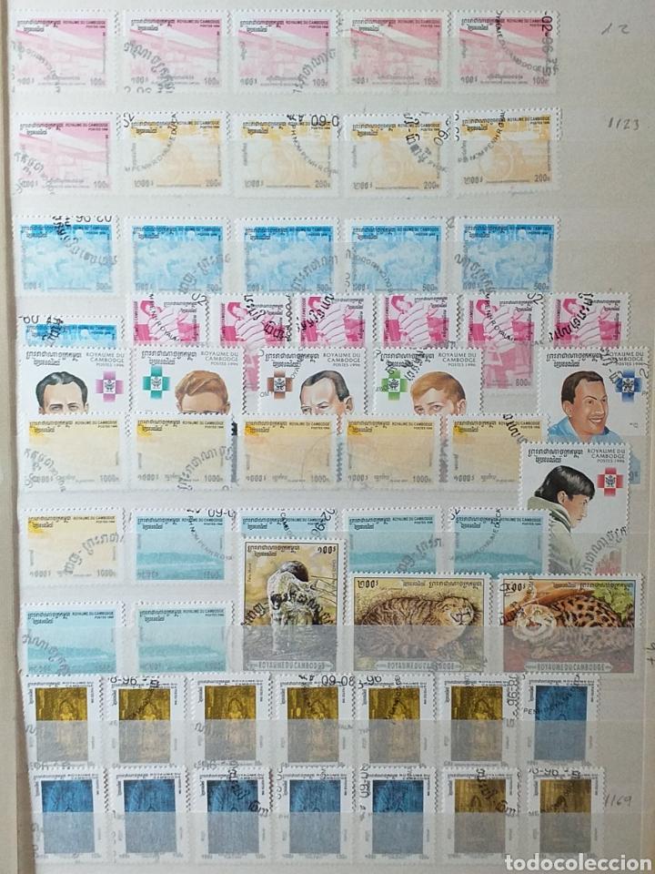 Sellos: Colección de sellos de Camboya bastante completa en álbum de 16 páginas - Foto 21 - 200853081