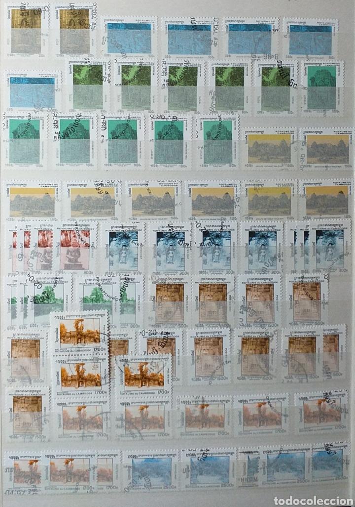 Sellos: Colección de sellos de Camboya bastante completa en álbum de 16 páginas - Foto 22 - 200853081
