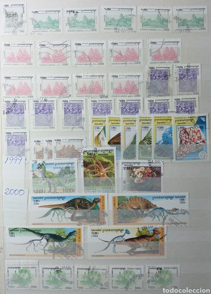 Sellos: Colección de sellos de Camboya bastante completa en álbum de 16 páginas - Foto 26 - 200853081
