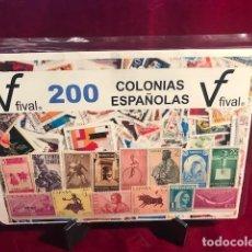 Sellos: 200 SELLOS USADOS DIFERENTES COLONIAS ESPAÑOLAS. Lote 275581303