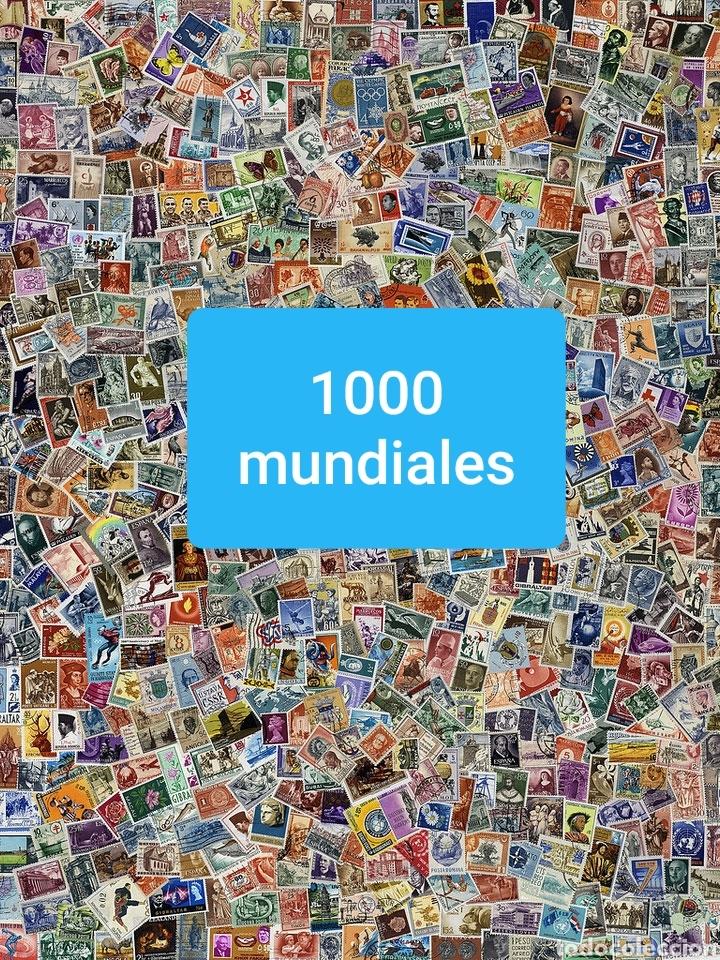 LOTE 1000 SELLOS MUNDIALES VARIADOS (IMAGEN GENERICA) VER DESCRIPCION (Sellos - Colecciones y Lotes de Conjunto)