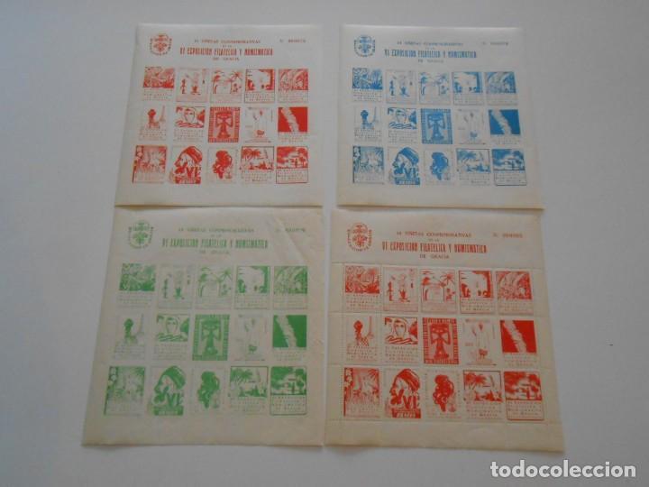 SELLOS SERIE VIÑETAS CONMEMORATIVAS VI EXPOSICION FILATELICA NUMISMATICA DE GRACIA STAMPS COMIC (Sellos - Colecciones y Lotes de Conjunto)