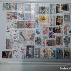 Selos: LOTE 1100 SELLOS DE ESPAÑA USADOS EN CLASIFICADOR DE 8 HOJAS 16 PAGINAS Y 2 FICHAS DINA4. Lote 202307067