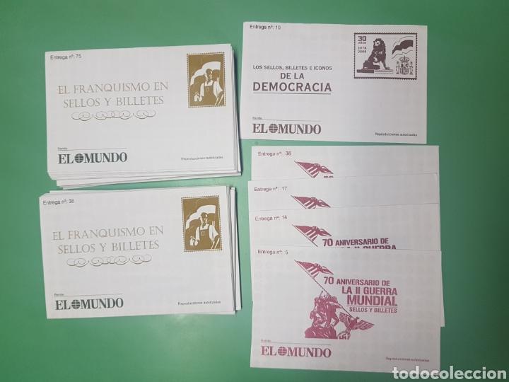 SOBRES EL MUNDO COLECCIONES SELLOS Y BILLETES EL FRANQUISMO, II GUERRA MUNDIAL Y DEMOCRACIA (Sellos - Colecciones y Lotes de Conjunto)