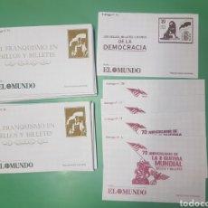 Sellos: SOBRES EL MUNDO COLECCIONES SELLOS Y BILLETES EL FRANQUISMO, II GUERRA MUNDIAL Y DEMOCRACIA. Lote 202889337