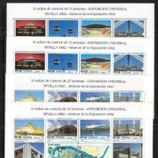 Sellos: ESPAÑA. AÑO 1992. EXPO 92. 4 MINIPLIEGOS.. Lote 205580586