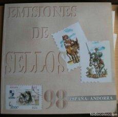 Sellos: LIBRI ANUAL DE EMISIONES DE SELLOS ESPAÑA Y ANDORRA 1998. Lote 206292591