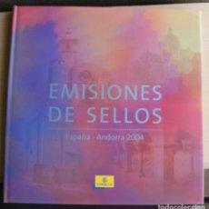 Sellos: LIBRO EMISIONES SELLOS OFICIAL DE CORREOS ESPAÑA ANDORRA 2004. Lote 206293347