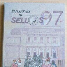 Sellos: LIBRO EMISIONES SELLOS OFICIAL DE CORREOS ESPAÑA ANDORRA 1997. Lote 206293476