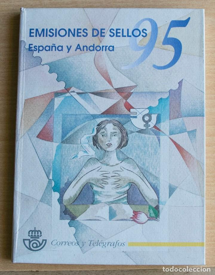 LIBRO EMISIONES SELLOS OFICIAL DE CORREOS ESPAÑA ANDORRA 1995 (Sellos - Colecciones y Lotes de Conjunto)