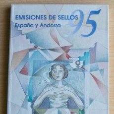 Sellos: LIBRO EMISIONES SELLOS OFICIAL DE CORREOS ESPAÑA ANDORRA 1995. Lote 206293562