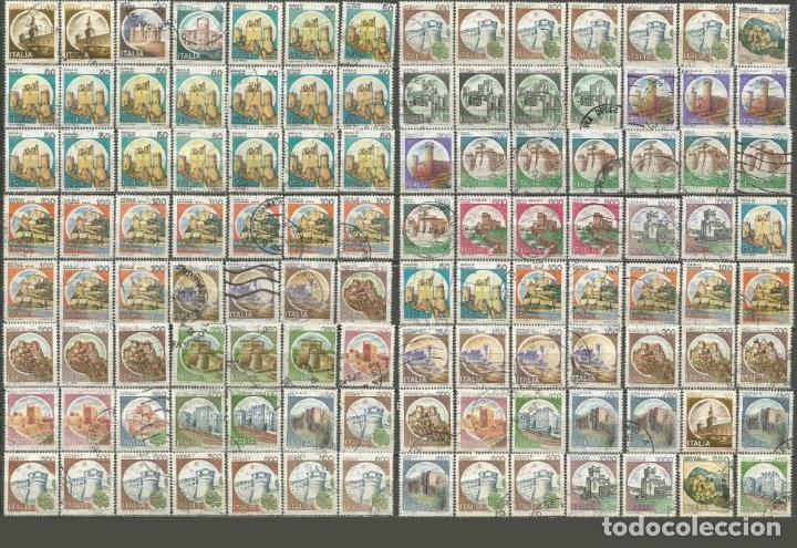 ITALIA CONJUNTO DE SELLOS USADOS CASTILLOS (Sellos - Colecciones y Lotes de Conjunto)