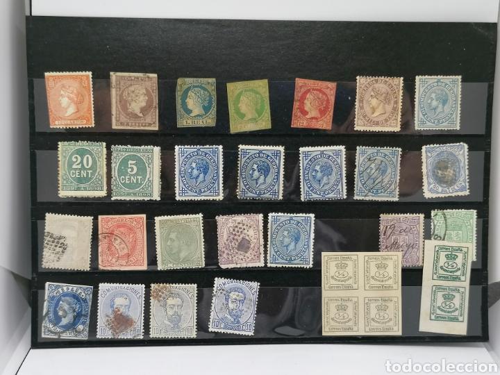 ESPAÑA LOTE CLÁSICOS 1850 A 1857 ALTÍSIMO VALOR CATÁLOGO (Sellos - Colecciones y Lotes de Conjunto)