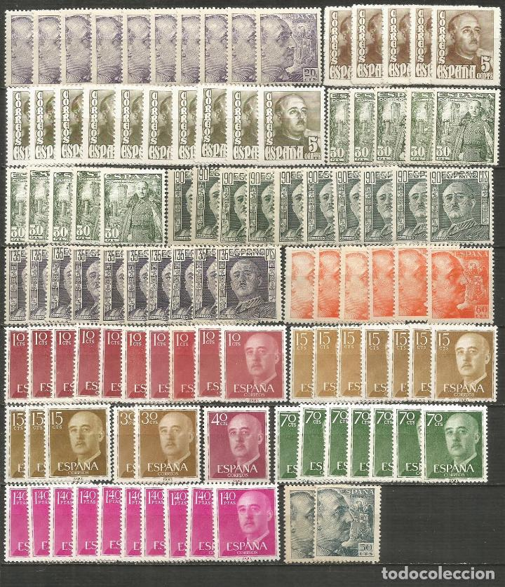 ESPAÑA GENERAL FRANCO GRAN CONJUNTO DE SELLOS NUEVOS SIN FIJASELLOS (Sellos - Colecciones y Lotes de Conjunto)