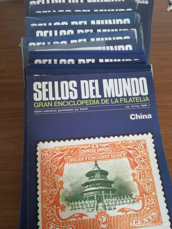 SELLOS DEL MUNDO. ED-URBION-----88 FASCICULOS GRAN ENCICLOPEDIA DE LA FILATELIA.AÑOS 80--- (Sellos - Colecciones y Lotes de Conjunto)