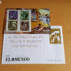 Sellos: SELLOS EL FRANQUISMO EN MONEDAS Y SELLOS ( SOROLLA). Lote 210422488