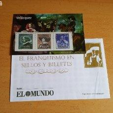 Sellos: SELLOS EL FRANQUISMO EN MONEDAS Y SELLOS ( VELÁSQUEZ). Lote 210422722