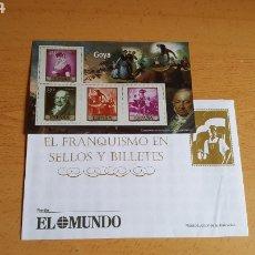 Sellos: SELLOS EL FRANQUISMO EN MONEDAS Y SELLOS ( GOYA). Lote 210422780