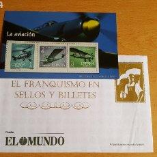 Sellos: SELLOS EL FRANQUISMO EN MONEDAS Y SELLOS ( LA AVIACIÓN). Lote 210426442