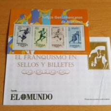 Sellos: SELLOS EL FRANQUISMO EN MONEDAS Y SELLOS (JUEGOS IBEROAMERICANOS ). Lote 210426936