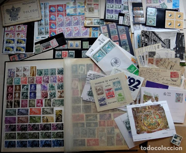 LOTE FILATELICO DE UNOS 2 KG DE PESO. VER FOTOGRAFÍAS Y COMENTARIOS (Sellos - Colecciones y Lotes de Conjunto)