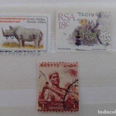 Sellos: LOTE 3 SELLOS SUDÁFRICA Y EGIPTO. Lote 210954027