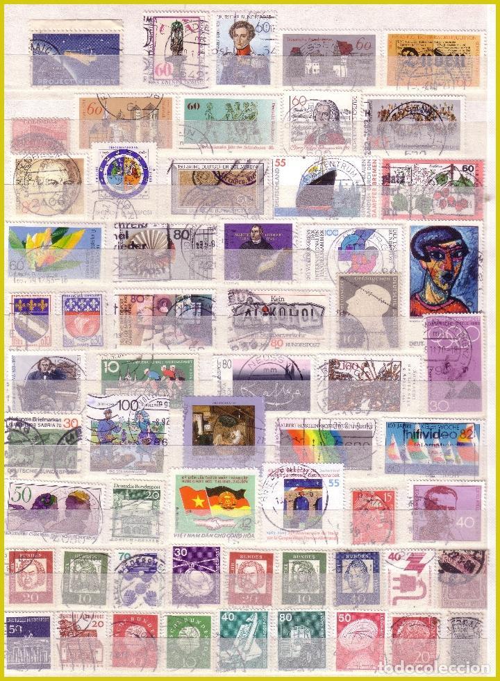 Sellos: Clasificador de 16 páginas con 1072 sellos extranjeros, mundiales (o) - Foto 3 - 211479774
