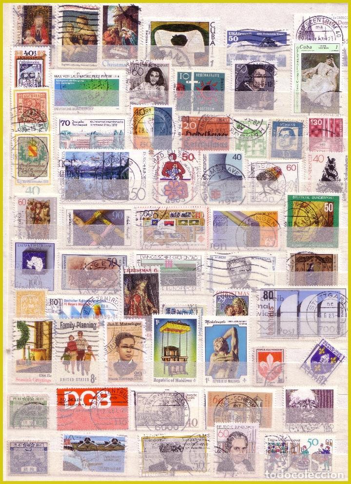 Sellos: Clasificador de 16 páginas con 1072 sellos extranjeros, mundiales (o) - Foto 4 - 211479774