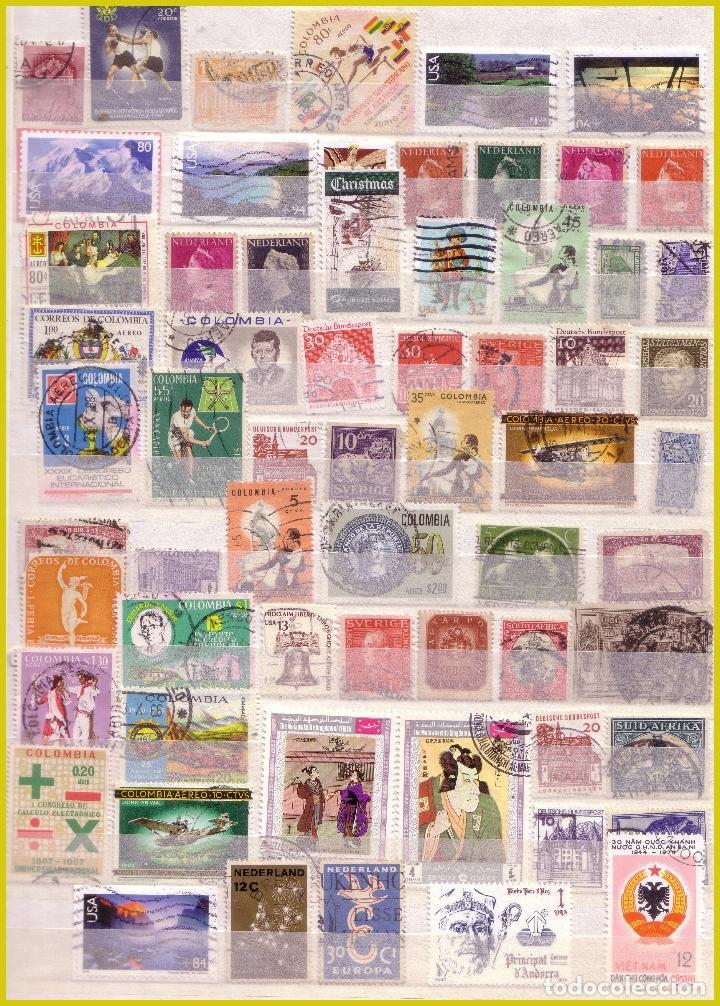 Sellos: Clasificador de 16 páginas con 1072 sellos extranjeros, mundiales (o) - Foto 5 - 211479774