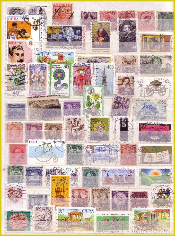 Sellos: Clasificador de 16 páginas con 1072 sellos extranjeros, mundiales (o) - Foto 6 - 211479774