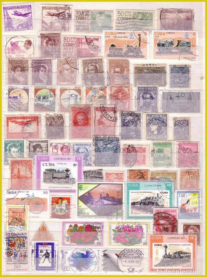 Sellos: Clasificador de 16 páginas con 1072 sellos extranjeros, mundiales (o) - Foto 7 - 211479774