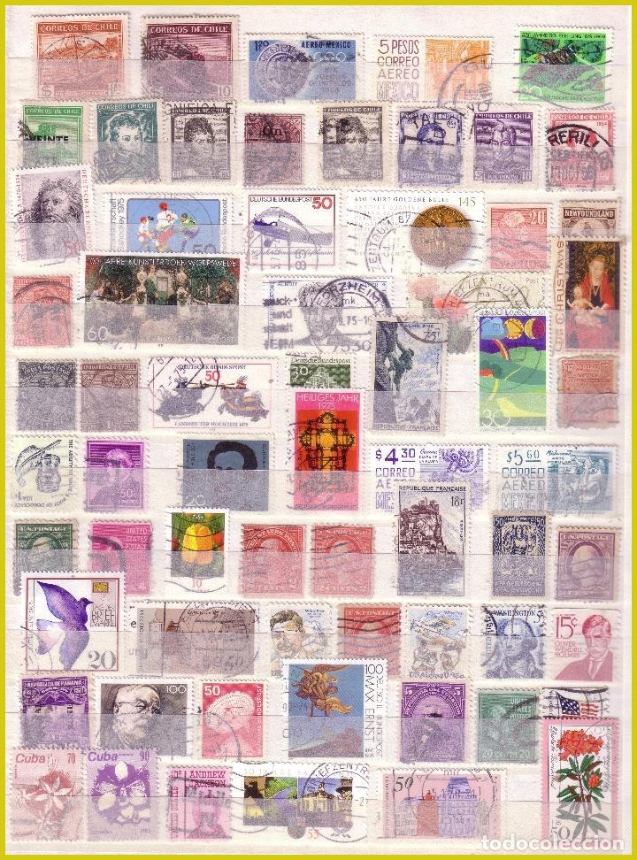 Sellos: Clasificador de 16 páginas con 1072 sellos extranjeros, mundiales (o) - Foto 8 - 211479774