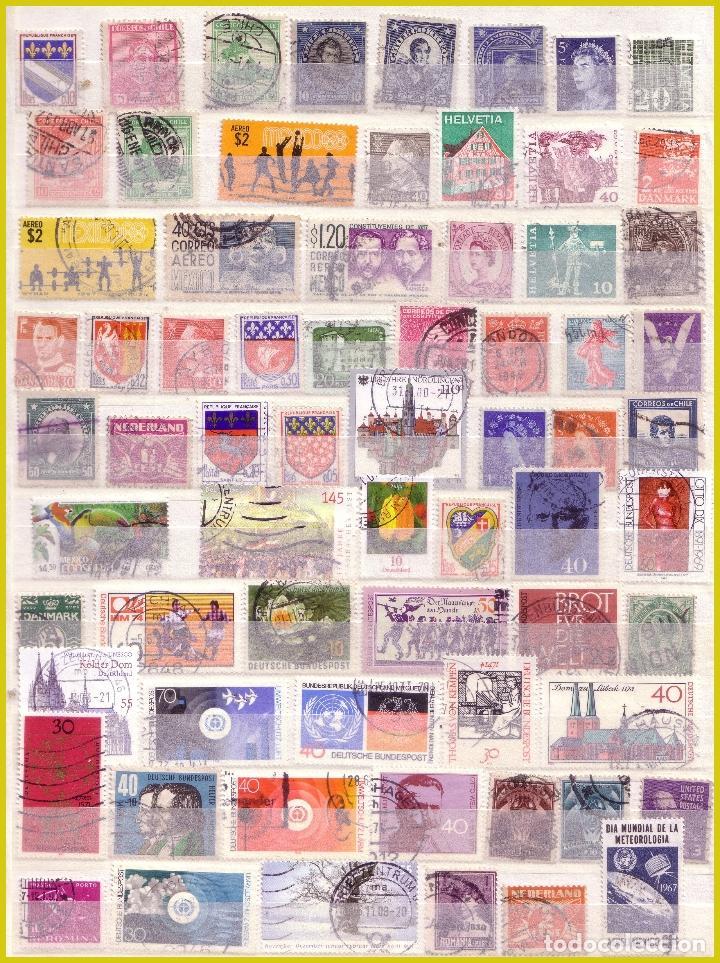 Sellos: Clasificador de 16 páginas con 1072 sellos extranjeros, mundiales (o) - Foto 9 - 211479774
