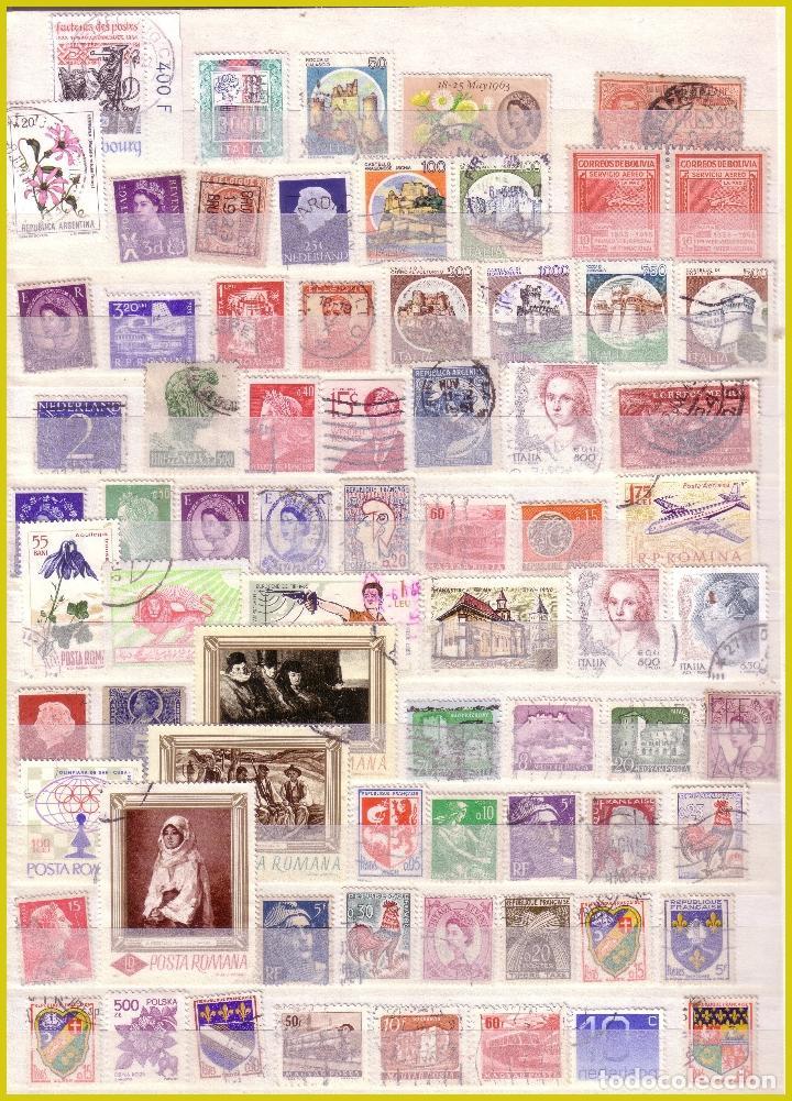 Sellos: Clasificador de 16 páginas con 1072 sellos extranjeros, mundiales (o) - Foto 10 - 211479774