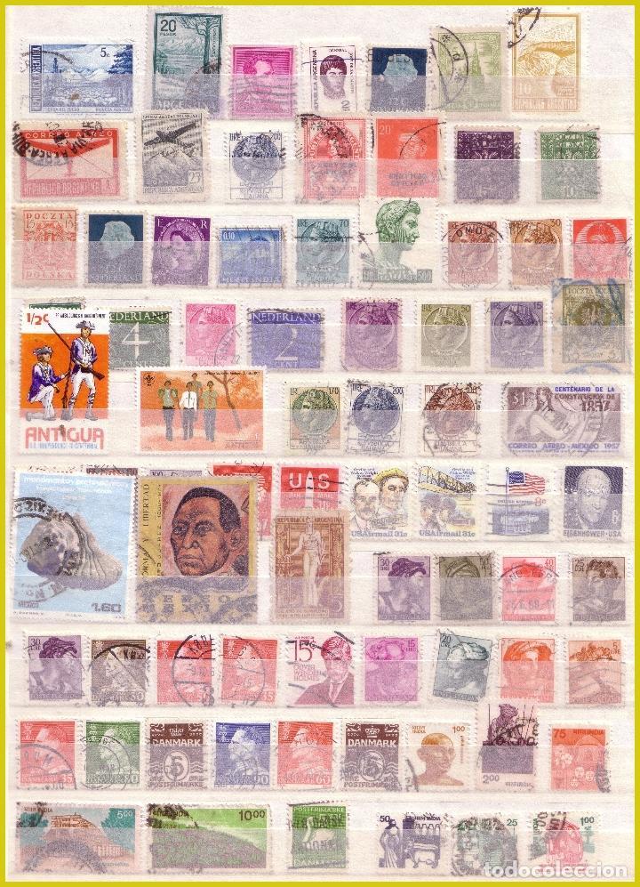 Sellos: Clasificador de 16 páginas con 1072 sellos extranjeros, mundiales (o) - Foto 11 - 211479774