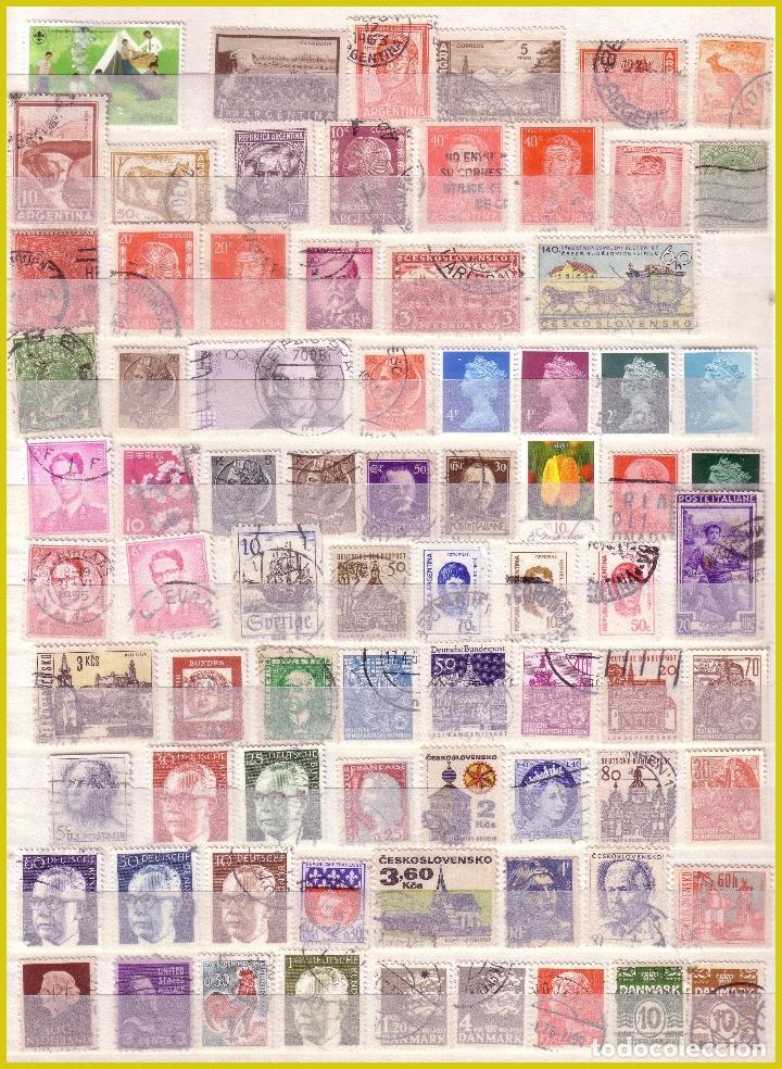 Sellos: Clasificador de 16 páginas con 1072 sellos extranjeros, mundiales (o) - Foto 12 - 211479774