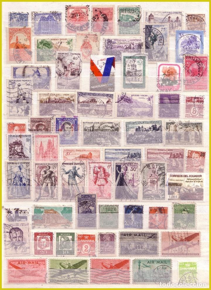 Sellos: Clasificador de 16 páginas con 1072 sellos extranjeros, mundiales (o) - Foto 13 - 211479774