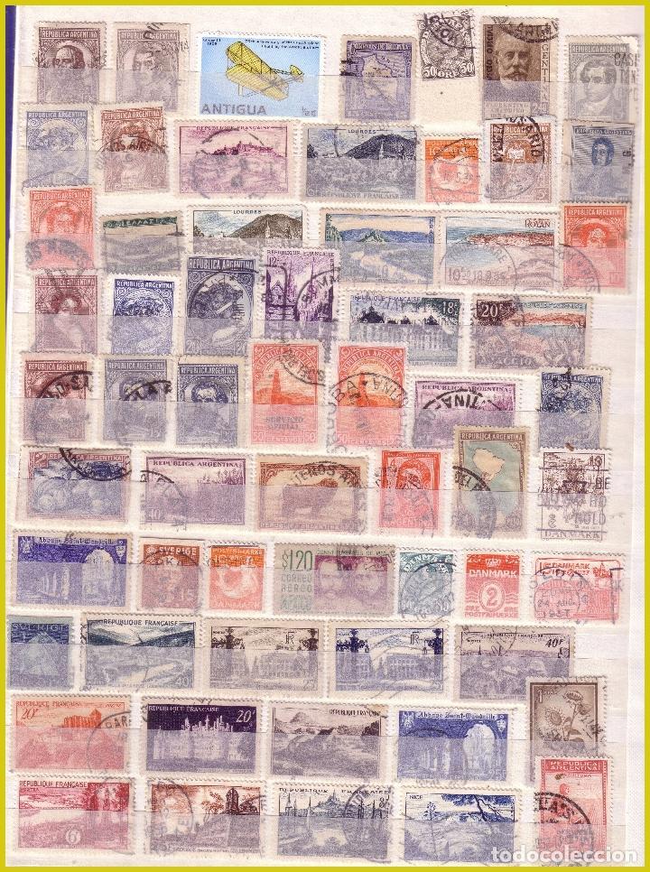 Sellos: Clasificador de 16 páginas con 1072 sellos extranjeros, mundiales (o) - Foto 14 - 211479774