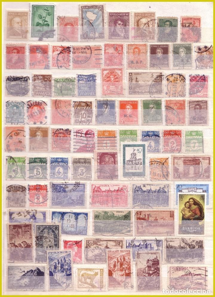 Sellos: Clasificador de 16 páginas con 1072 sellos extranjeros, mundiales (o) - Foto 15 - 211479774