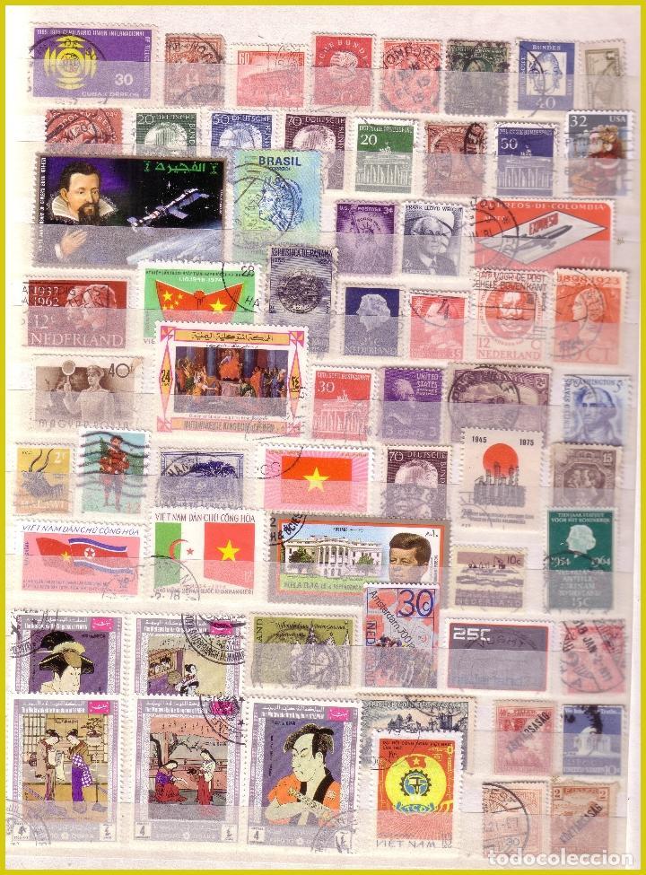 Sellos: Clasificador de 16 páginas con 1072 sellos extranjeros, mundiales (o) - Foto 16 - 211479774