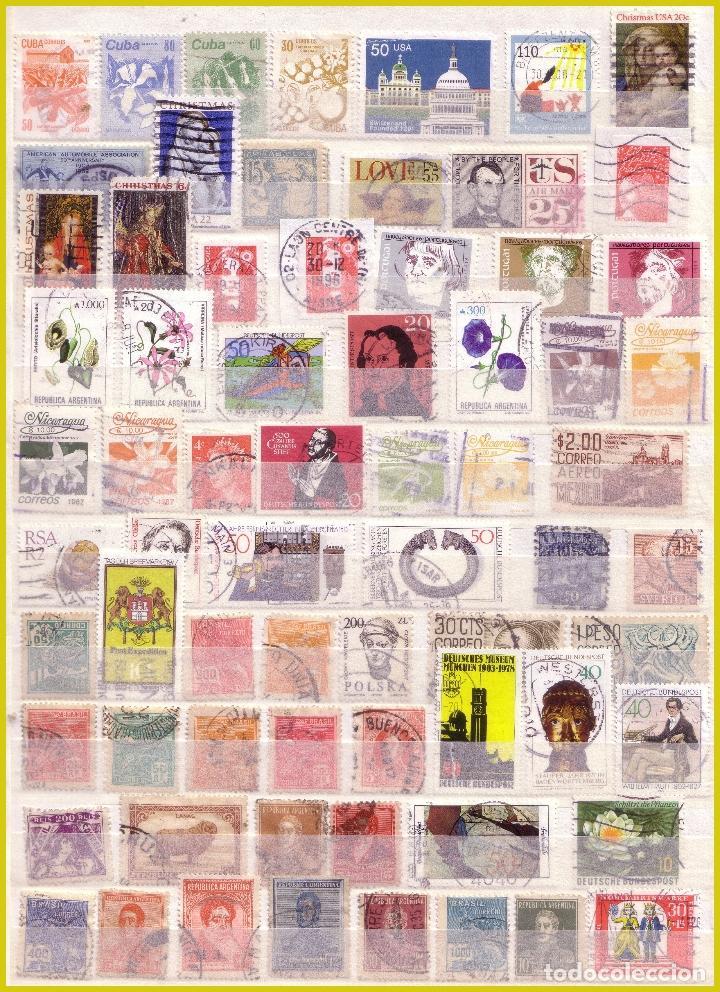 CLASIFICADOR DE 16 PÁGINAS CON 1072 SELLOS EXTRANJEROS, MUNDIALES (O) (Sellos - Colecciones y Lotes de Conjunto)