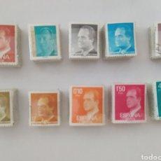 Sellos: LOTE DE 10 PASTILLAS DE 100 SELLOS DE JUAN CARLOS, DIFERENTES.IDEAL PARA VARIANTES DE COLOR. Lote 218717133