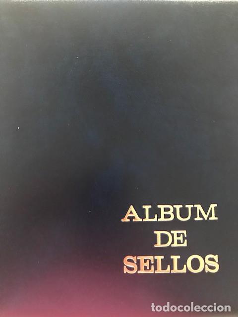 Sellos: Excepcional coleccion sellos España años 1960 a 1990 en Hojas Olegario y 4 Albums Philos - Foto 2 - 219321357